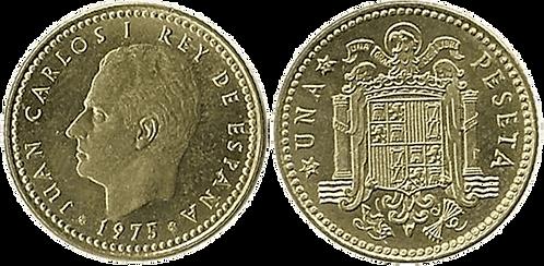 1 PESETA, 1975 (*19, *77). PROOF