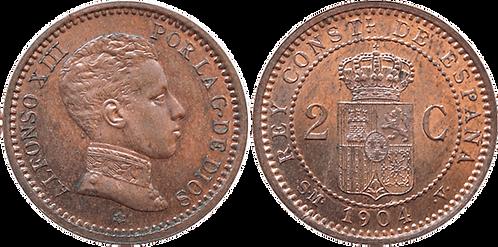 2 CTS. 1904. (*04).  EBC+