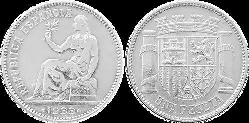 1 PESETA. 1933 (*3,*4). SC-