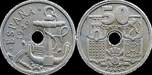 50 CTS. 1949 (*51). Flechas Invertidas. EBC+