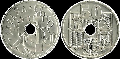 50 CTS. 1949 (*51). Flechas Invertidas. SC