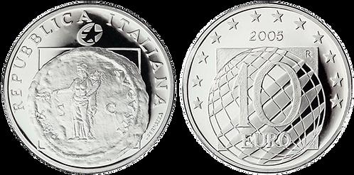 ITALIA, 10 EURO, 2005 (PROOF). Estuche ofcial con certificado.
