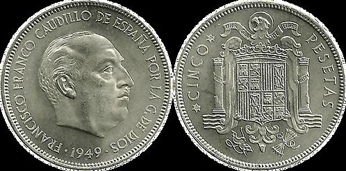 5 PESETAS, 1949, (*50). SC