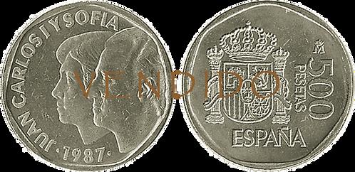 500 PESETAS, 1987. (PROOF)
