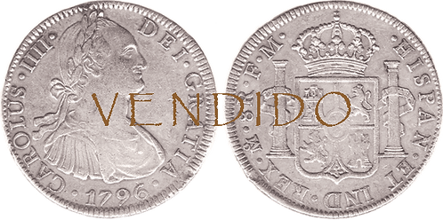 CARLOS IV. 1796_MEJICO, FM. 8 reales. MBC+