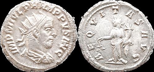 FILIPO I. Antoniniano. MBC+. RIC 27 var. (AVG en lugar de AVGG)
