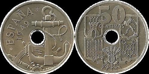 50 CTS. 1949 (*51). Flechas Invertidas. SC-