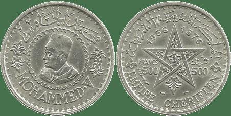 MARRUECOS, 500 FRANCOS, 1956. (EBC+)