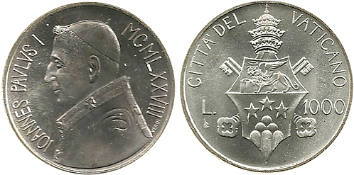 VATICANO, 1000 LIRAS, 1978. (SC)