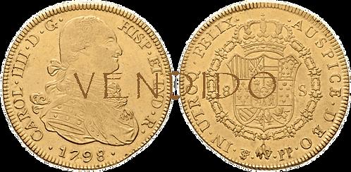 CARLOS IV. 1798_POTOSI, PP. 8 escudos. EBC-/EBC
