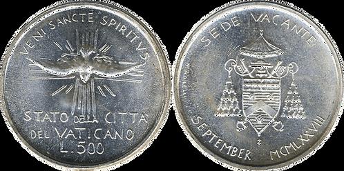 VATICANO, 500 LIRAS, 1978. (SC)