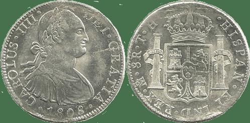 CARLOS IV. 1808_MEJICO, TH. 8 reales. EBC