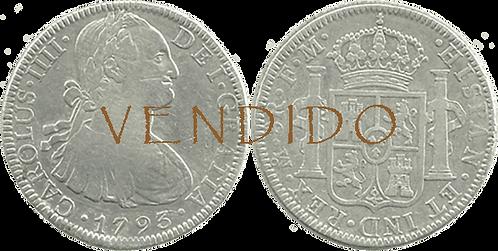 CARLOS IV. 1793_MEJICO, FM. 8 reales. MBC