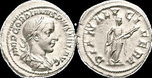 GORDIANO III. Denario. SC-. RIC 127