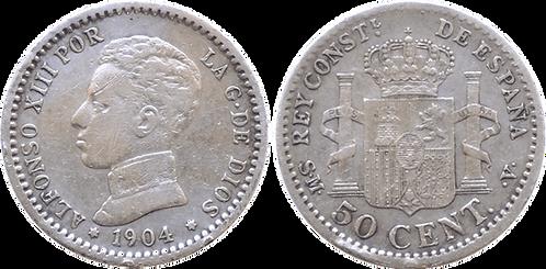 50 CTS. 1904 (*0, *4). MBC