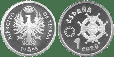 1 EURO. LAUREADA. 1998. (PROOF)
