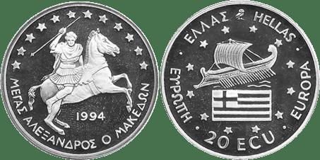 GRECIA, 20 ECU, 1994 (PROOF)