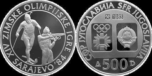 YUGOSLAVIA, 500  DINARA, 1983 (PROOF)