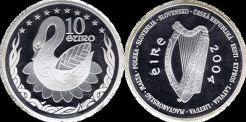 IRLANDA, 10 EURO, 2004 (PROOF). Estuche ofcial con certificado.