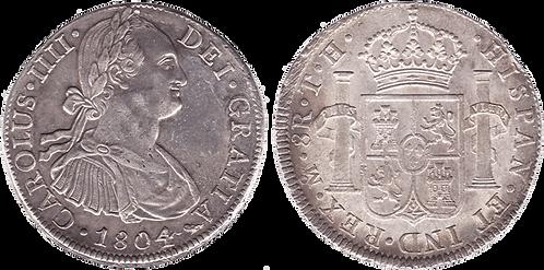 CARLOS IV. 1804_MEJICO, TH. 8 reales. EBC-