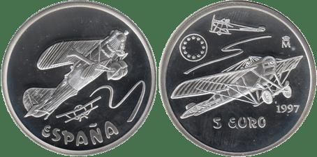 5 EURO, 1997. NIEUPORT. PROOF