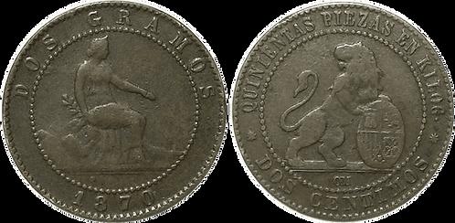 2 CTS. 1870. BARCELONA. MBC