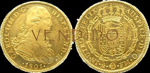 CARLOS IV. 1801_MEJICO, FM. 8 escudos. SC-. (Certificada por PCGS)