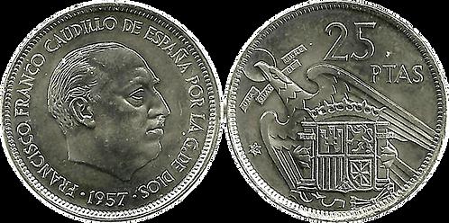 25 PESETAS, 1957 (*74). SC