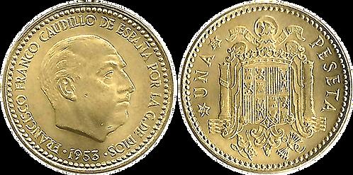 1 PESETA, 1953 (*56). SC