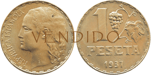 1 PESETA. 1937. SC-