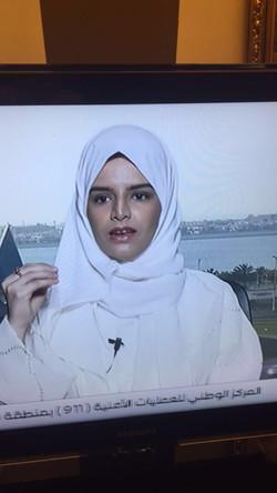 مقابلة تلفزيونيه مع القناة السعودية