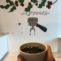 جدارية لمقهى القهوة اليدوية