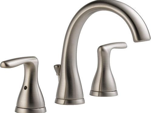 Peerless Widespread Bathroom Faucet Brushed Nickel, Bathroom Faucet 3 Hole, Bath