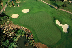 8th hole from the air