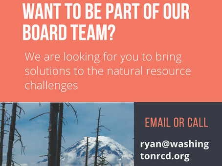 Want to become a Board Member? WRCD is looking for you!