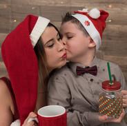 Maman et moi bisous pour Noël