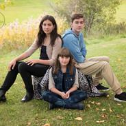 portrait de famille trois ados