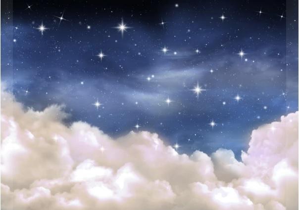 fond de scène nuit d'étoiles