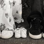 photo des souliers de maman papa et bébé