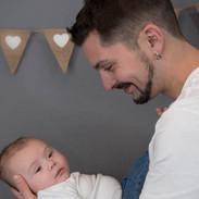 portrait de papa et son jeune fils