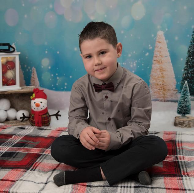 garçon de 5 ans mini de Noël