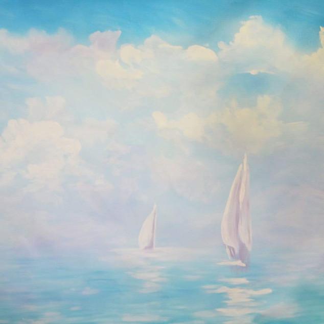 fond de scène voilier en mer