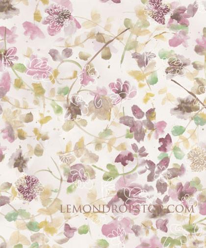 fond de scène avec motifs de fleurs