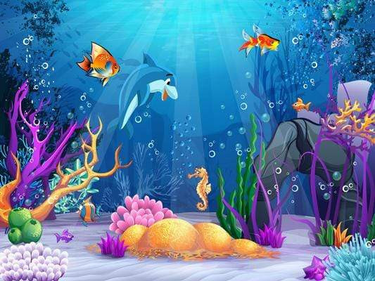 Fond de scène thème de la mer