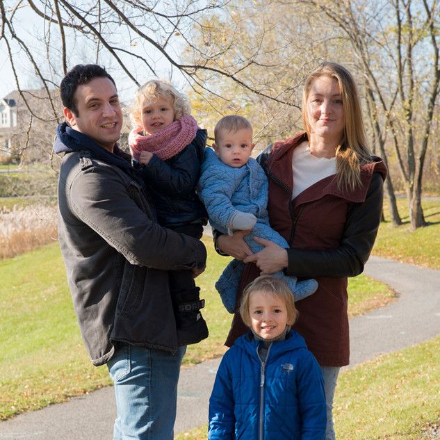 portrait de famille en novembre
