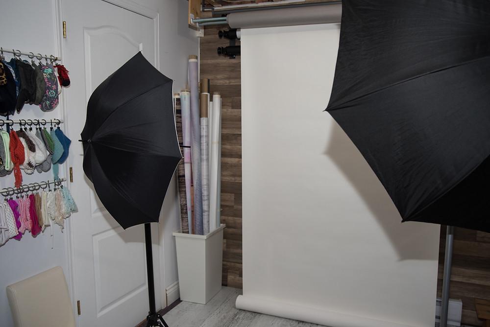 studio photo avec décors et différents fonds de scène