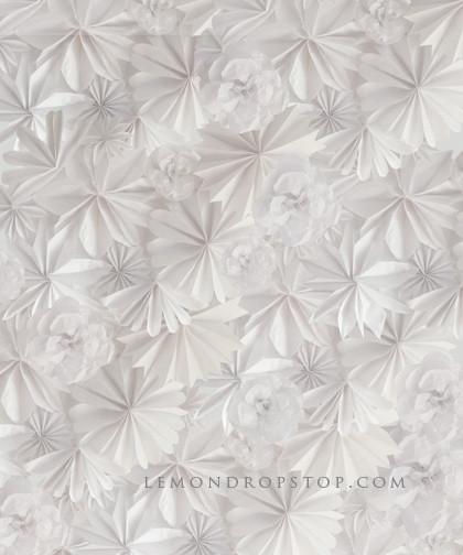 fond de scène fleurs de papier