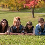 portrait de famille mère et enfants