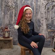 portrait petite fille de 5 ans décor Noël