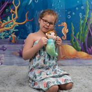 portrait petite fille de 6 ans thème sirène